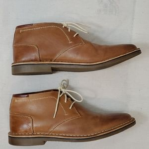 Steve Madden Tan Leather Chukka Boots Hestonn